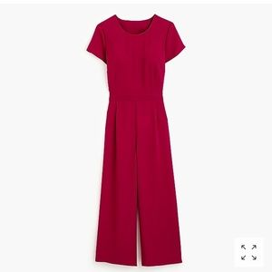 NWT J.Crew Drapey Open Back Jumpsuit in Berry
